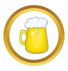 Glass mug of beer icon vector image