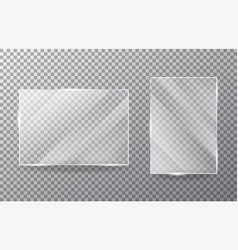 Glasses object on transparent background vector