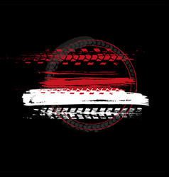 grunge off-road tire stamp vector image