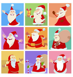 holiday design with funny christmas characters vector image