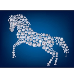 Horse of diamonds vector image