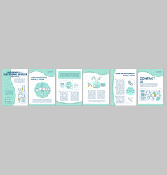 Household and electronic devices service brochure vector