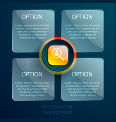 Infographic web template vector