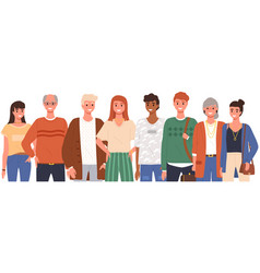international group people old and young vector image