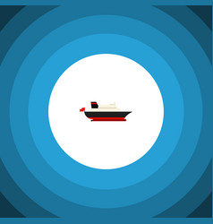 Isolated transport icon flat cargo element vector
