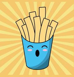 kawaii french fries image vector image