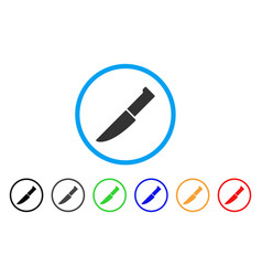 knife rounded icon vector image