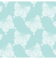 Lace with butterflies vector
