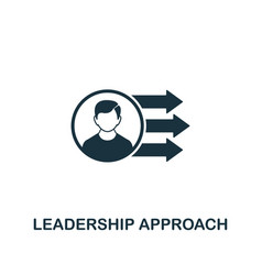 leadership approach icon creative element design vector image