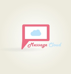 Message cloud logo vector