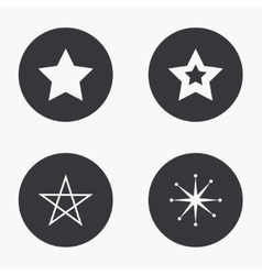 modern star icons set vector image
