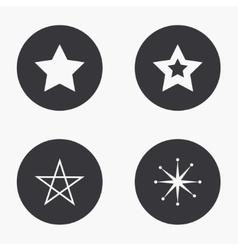 modern star icons set vector image