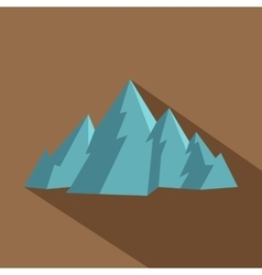 Mountain icon flat style vector
