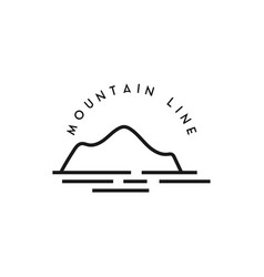 mountain line icon design template isolated vector image
