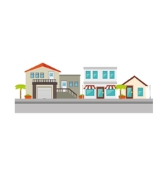 Nice neighborhood street icon vector image