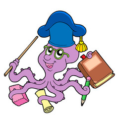 octopus teacher vector image