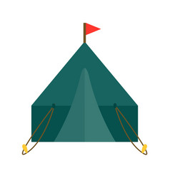 outdoor tent nature leisure vector image