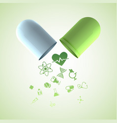 Pills and medication background vector
