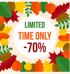 promotion autumn limited time sale background vector image