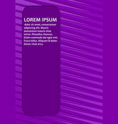 Purple abstract background with diagonal light vector