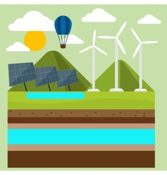 Renewable energy like hydro solar and wind power vector