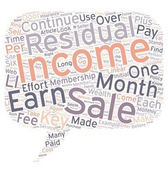 Residual Income Can Be Your Key To Wealth text vector