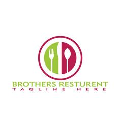 Resturent branding logo design vector