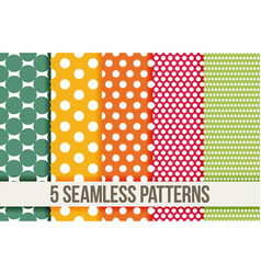 Seamless geometric patterns vector