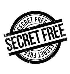 Secret free rubber stamp vector