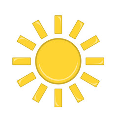 sun icon weather label for web on white vector image