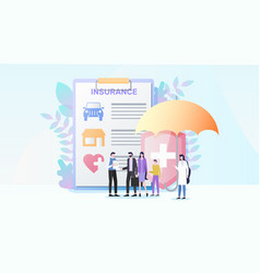 Total property and health insurance flat vector