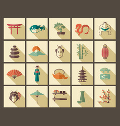 Traditional symbols of japan vector