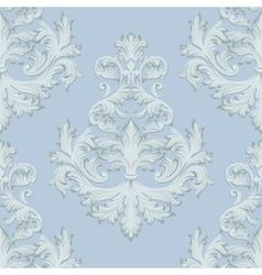 Vintage Baroque damask floral retro pattern vector