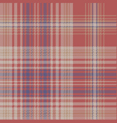 Vintage check plaid fabric texture seamless vector