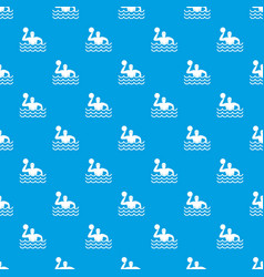 water polo pattern seamless blue vector image