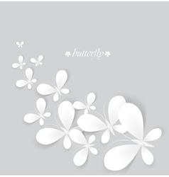 White butterflies vector