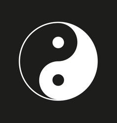 Ying yang symbol on black vector