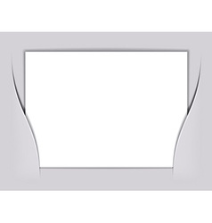 blank white rectangle paper vector image