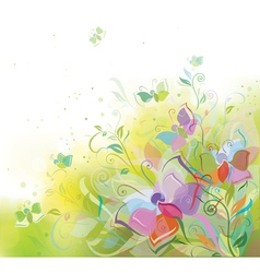 butterfly spring background vector image