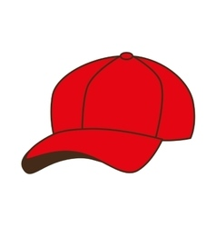 cap red baseball isolated vector image vector image