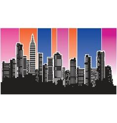 city4 vector image vector image
