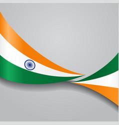 indian wavy flag vector image vector image