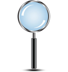 Magnifying glass isolated vector image vector image