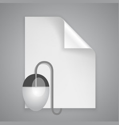 Paper symbol mouse vector