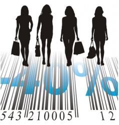 shopping discount forty percent vector image vector image