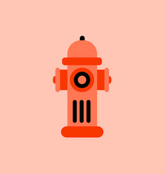 Street fire hydrant vector