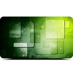 Green technology design vector image vector image