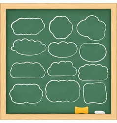 hand drawn clouds vector image vector image