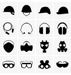Head protection equipment vector