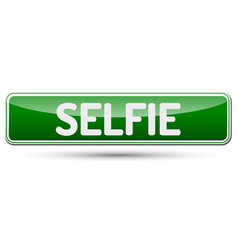 Selfie - abstract beautiful button with text vector